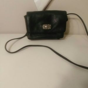 Fossil black leather cross body
